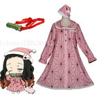 Cosplay Demon Slayer Kimetsu no Yaiba Kamado Nezuko Costume Dress Pajamas Gift