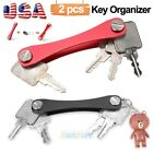 2X Aluminum Alloy Smart Holder Key Organizer Flexible Key Chains Case Keychain