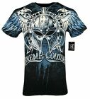 XTREME COUTURE by AFFLICTION Men T-Shirt DEALER Biker Black MMA GYM S-4X $40 image