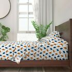 Football American Football College 100% Cotton Sateen Sheet Set by Roostery image