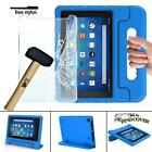 """EVA Handle Kids Stand Cover Case + Screen Protector For Amazon Fire 7"""" 8"""" Tablet"""