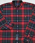 Ralph Lauren Shirt Red Plaid Oxford Button-Front 3XB 3XLT 4XB Big Tall NWT $99