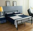 Queen Size Metal Bed Frame Platform Bedroom Mattress Foundation with Headboard