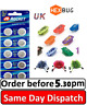 REPLACEMENT BATTERIES HEXBUG NANO ROBO FISH CRAB SCARAB ANT BEETLE SCORPION X 20