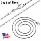 """925 Sterling Silver Plated Snake Chain Necklace 2mm 16"""" 18"""" 20"""" 22"""" 24"""" 26"""" 28"""" image"""
