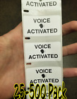 """voice Activated"" 25-1000 Pack Stickers Gag Prank Sticker"