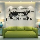 Acrylic 3d Map Of World Smooth Solid Crystal Wall Sticker Home Office Decoration