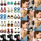 Women Geometric Acrylic Dangle Drop Statement Long Earring Ear Stud Jewelry Gift