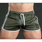 Mens Shorts Jogging Running Gym Sports Breathable Fitness Workout Short Pants