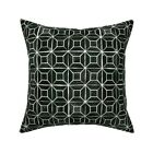Geometric Black And White Throw Pillow Cover w Optional Insert by Roostery