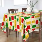 Tablecloth Mid Century Modern Retro Inspired Bright Colors Color Cotton Sateen