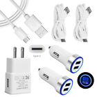 2M Wall Car Charger USB-C Cable Cord For Motorola Moto One Macro Version G7 Plus