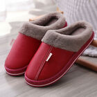 Men Womens Winter Slipper Indoor Outdoor Mules Plush Lined Warm House Shoes Size