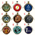 Harry Potter Captain America Doctor Who Game Of Thrones Round Glass Necklace
