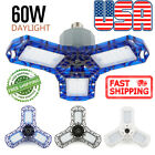 60W LED Garage Light Fixture Daylight 6000 Lumens Ceiling Light E26/E27 Base USA