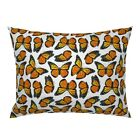 Monarch Butterfly Orange Black Butterflies Insect Bug Pillow Sham by Roostery image