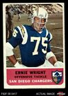 1962 Fleer #83 Ernie Wright Chargers Ohio St 3 - VG $8.25 USD on eBay