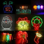 Neon Sign Light LED Wall Light Visual Bar Lamp Home Room Xmas Halloween Decor CE