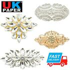 Large Silver Or Gold Diamante Crystal Pin Backs Brooch Wedding Art Vintage Style