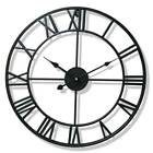 Large Roman Numeral Wall Clock Retro Vintage Round Wall Clock Home Décor