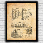 Vintage Billiards Pool Ball Rack Patent Wall Art Print - Size and Frame Options $17.9 USD on eBay
