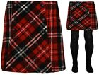 GIRLS SKIRT & TIGHTS RED CHECKED WOOL SKIRT RRP £12 EX UK STORE 2PC SET 3-14Y