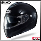 CASCO MODULARE APRIBILE FLIP UP DOPPIA VISIERA HJC C90 METAL BLACK NERO