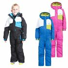 Trespass Wiper Kids Adult Ski Suit Warm Winter Hooded Jumpsuit for Boys Girls