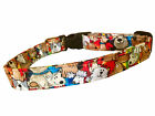 SPIFFY POOCHES Dog Collar Colorful Dogs All Over ~BUY ONE GET ONE HALF PRICE~