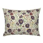 Fall Autumn Cream Floral Flower Fall Floral Pillow Sham by Roostery image