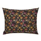 Fall Into Autumn Fall Autumn Floral Florals Watercolor Pillow Sham by Roostery image