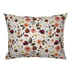 Floral Flowers Autumn Fall Thanksgiving Rustic Boo Pillow Sham by Roostery image