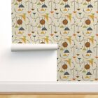 Peel-and-Stick Removable Wallpaper Mod Planets Mid Century Space Retro 1950S