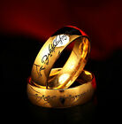 Lord Of The Rings The One Ring Stainless Steel Gold The Hobbit Cosplay Jewellery