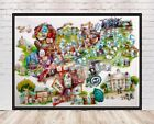 Haunted Mansion Poster Haunted Mansion Ride Map Poster Vintage Disney Poster