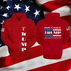 UNISEX PREMIUM RED 2020 TRUMP ZIPPED UP RALLY FLEECE HOODIE MAKE LIBERALS CRY