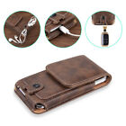 For iPhone 12 11 Max 8 7 6 Plus Phones Leather Case Pouch Belt Clip Loop Holster