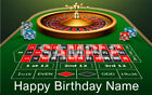 ROULETTE Casino Edible cake topper image Party decoration