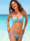 Victoria's Secret Bikini Add-2-Cups Push-Up Bomb Shell Lila Türkis Bunt XS S M