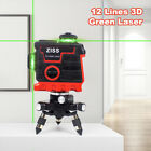 Laser Level Green 12 lines 3D Cross Line Laser Auto Self Leveling 360° Rotary