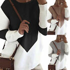 Womens Long Sleeve Pullover Knit Sweater Ladies Winter Loose Blouse Jumper Tops