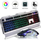 Professional Gaming Mouse Mice Colorful Backlit 3200 DPI Optical Wired Keyboard