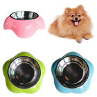 FM_ AM_ Pet Dog Stainless Steel Feeding Bowl Anti Skid Food Water Dish Storage C