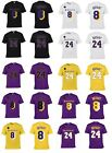 KOBE BRYANT #8 or #24 KB Patch L.A. Lakers Player Jersey 2020 CUSTOM T-Shirt on eBay