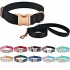 Dog Collar Set Personalized Durable Nylon Engraved ID Name Adjustable S M L Dogs