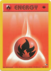 Fire Basic Energy Common Pokemon Card 1st Edition Gym Heroes 128/132