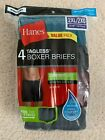 Hanes Men's Boxer Briefs TAGLESS Waistband Assorted Colors 2XL-3XL 4-Pack