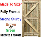 Garden Gate Handmade Wooden Closeboard Pedestrian Gate Mortised Treated Flb