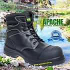 Apache Leather Safety Steel Toe Cap Work Waterproof Mens Hercules Ankle Boots