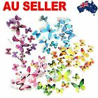 Wall Stickers 12pcs Decal Home Decorations 3d Butterfly The Stickers Adhesive